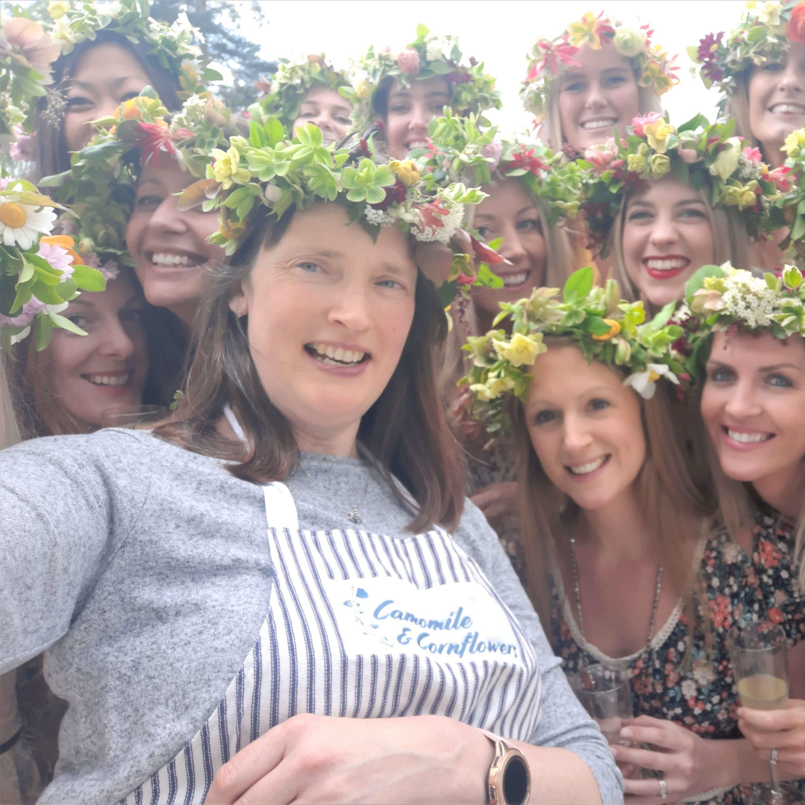 Camomoile Cornflowers Flower Crown Workshop Sqaure