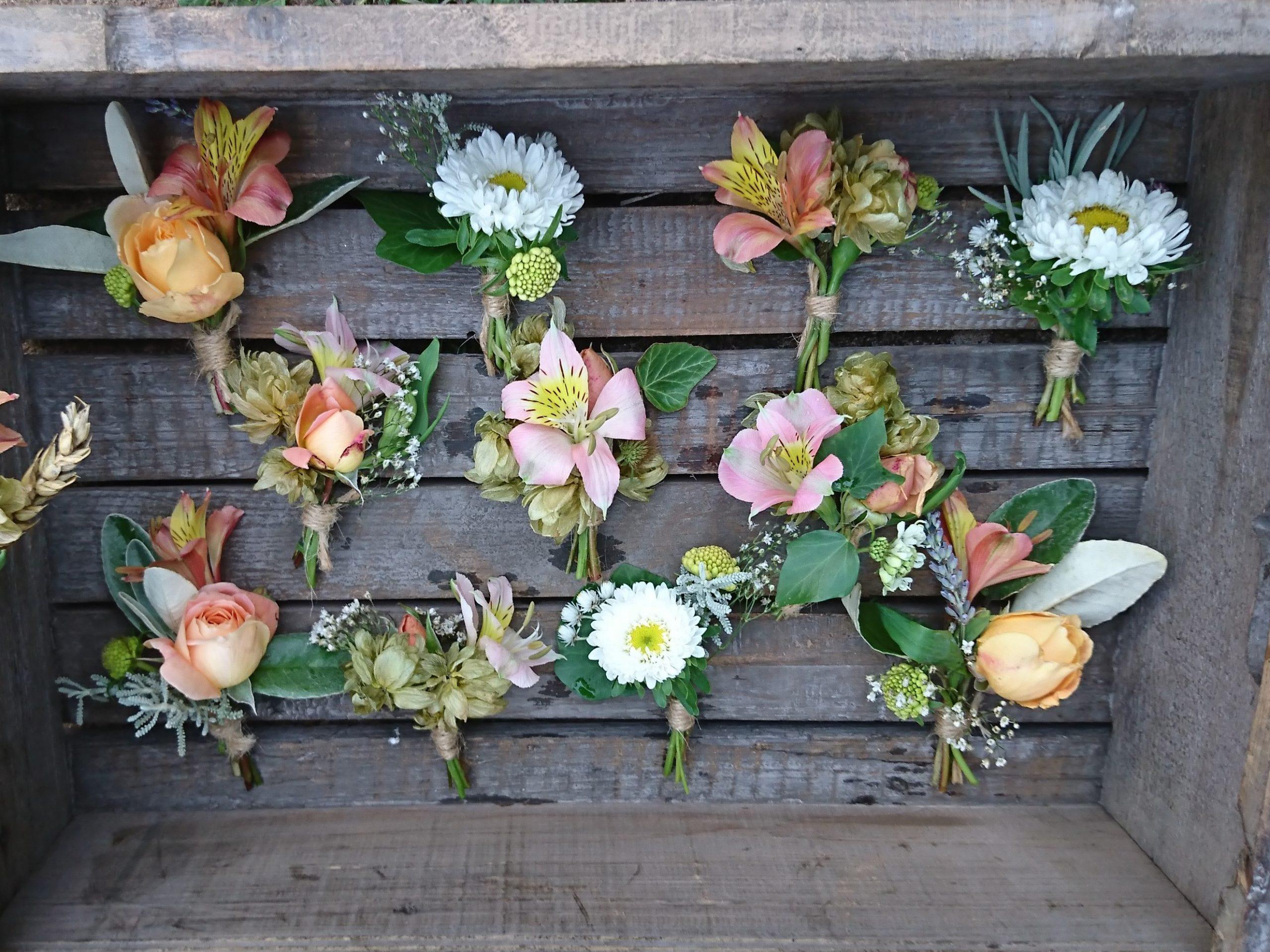 Camomile cornflowers Button Holes Wedding Flowers Bridal Bouquet