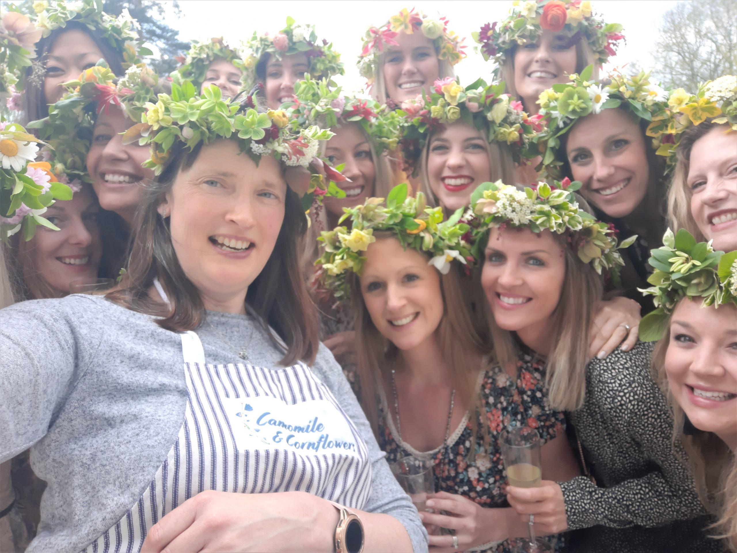 Camomoile Cornflowers Flower Crown Workshop
