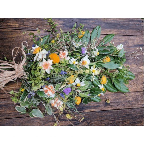 Camomile Cornflower Sheaf Funeral Arrangements