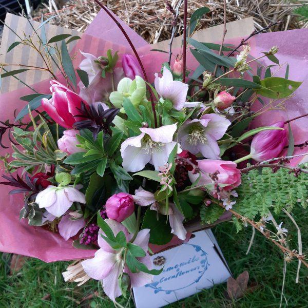 Camomile Cornflowers Bouquet Standard Winter