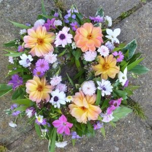 Camomile Cornflowers Standard Wreath Autumn