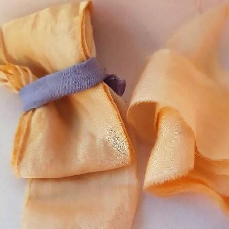 Camomile Cornflowers Bamboo Ribbon Apricot