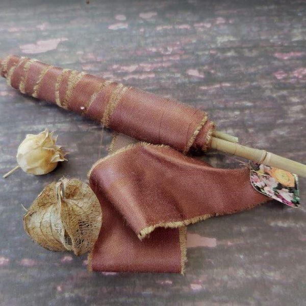 Camomile Cornflowers Bamboo Ribbon Hickory