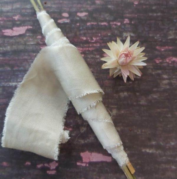 Camomile Cornflowers Bamboo Ribbon Silver