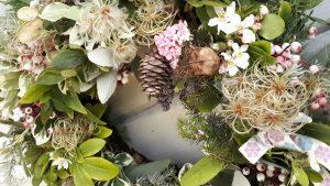 pastel Christmas wreath